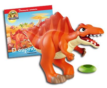 Libro 12: El espinosaurio + Spinosaurus papá + Palmera (parte inferior)