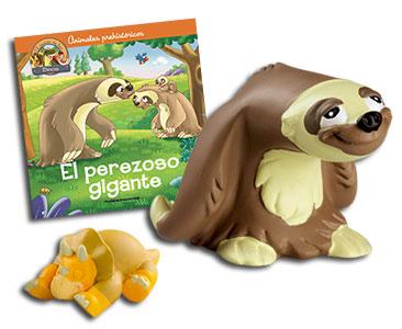 Libro 14: El perezoso gigante + Perezoso + Triceratops bebé