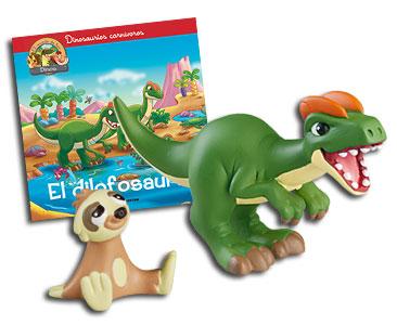 Libro 15: El dilofosauro + Dilofosauro + Perezoso bebé
