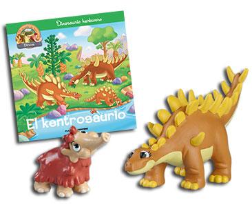 Libro 17: El kentrosaurio + Kentrosaurio mamá + Mamut bebé
