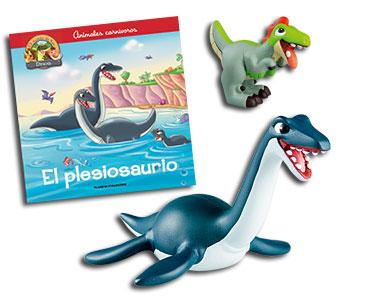 Libro 18: ??El plesiosaurio + Plesiosaurio + Velociraptor bebé