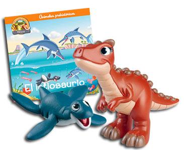 Libro 23: El ictiosaurio + Carnotauro mamá + Plesiosauro bebé
