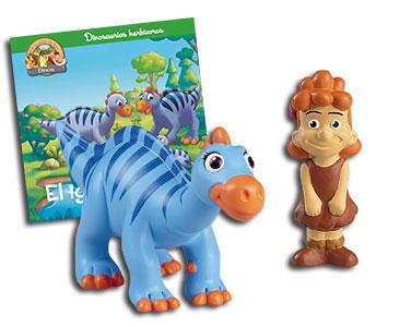 Libro 24: El iguanodonte + Niña + Iguanodonte mamá