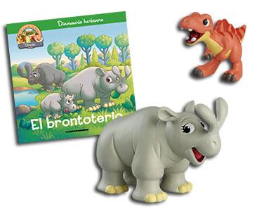 Libro 26: El brontoterio + espinosaurio bebé + brontoterio mamá