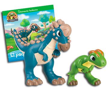 Libro 28: El paquicefalosaurio + Paquicefalosaurio papá + dilofosaurio bebé
