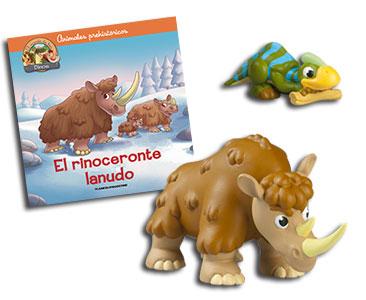 Libro 29: El rinoceronte lanudo + Rinoceronte papá + Parasaurolopo bebé