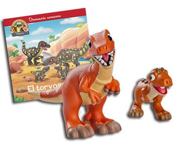 Libro 32: El torvosaurio + Megalosaurio mamá + Carnotauro bebé