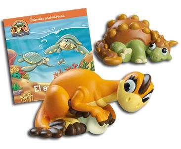 Libro 35: El archelon + Oviraptor mamá + Anquilosaurio bebé