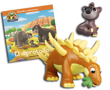 Libro 37: El diprotodon + Kentrosauro papá + Diprotodon bebé