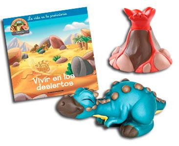 Libro 38: Vivir en los desiertos + Volcán (Parte 2) + Paquicefalosaurio bebé