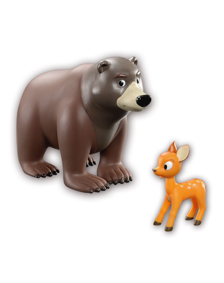 """Libro """"El oso"""" + figuras"""