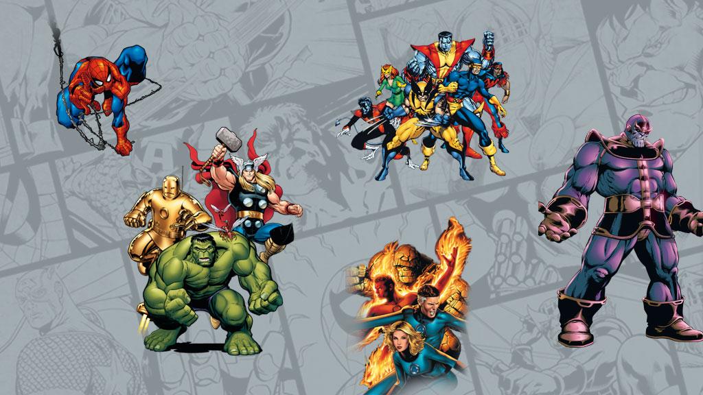Spider-Man, Iron Man, Thor, Capitán América, Hulk…