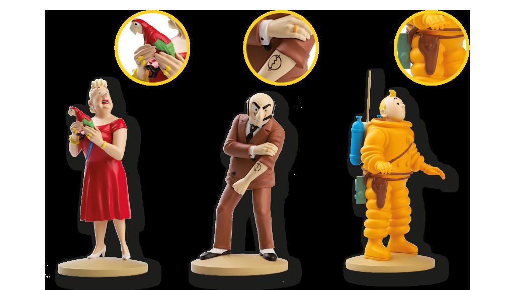 Colecciona los personajes más emblemáticos de las aventuras de Tintín