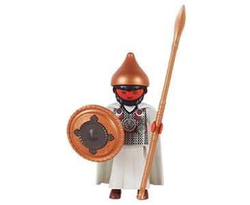 Le livret 28 : Un roi en Mésopotamie + 2 Fiches de jeu + Figurine