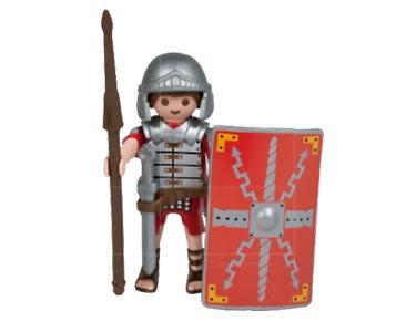 Le livret 32 : Les défenseurs de l'Empire romain + 2 Fiches de jeu + Figurine