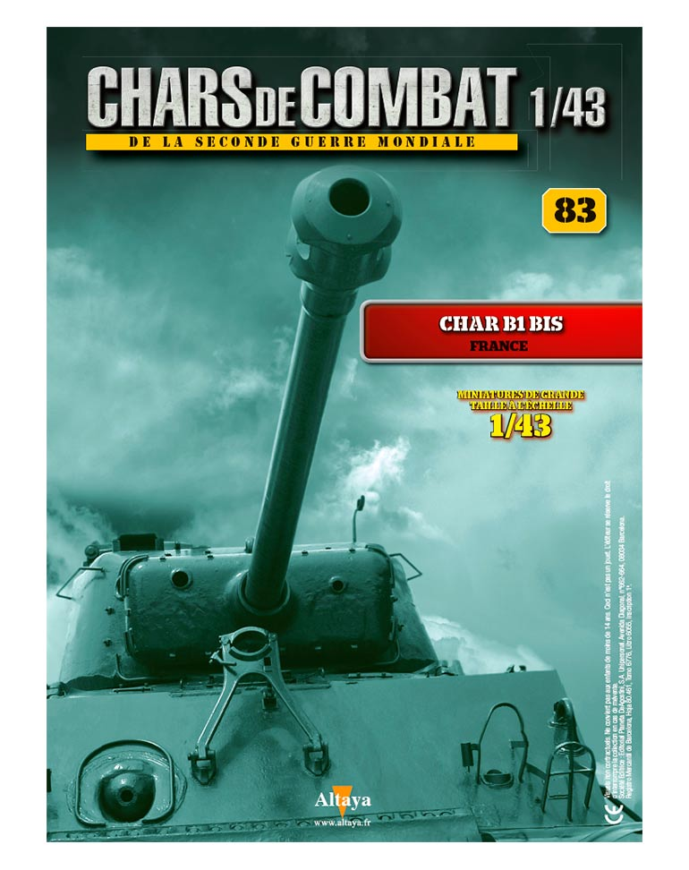 CHAR B1 BIS FRANCE + Fascicule 83