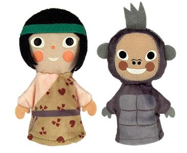 Tarzan + Les marionnettes du Tarzan et du Gorille Terk
