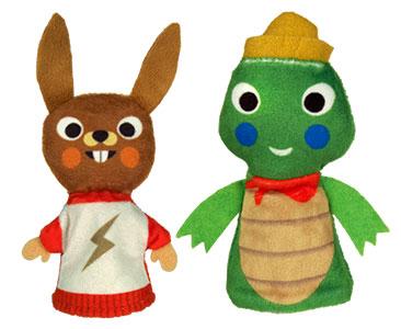 Le Lièvre et la Tortue + Les marionnettes du lièvre et de la tortue