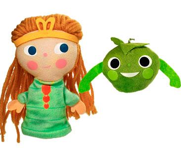 La au Princesse petit pois + Les marionnettes de Princesse et Petit Pois