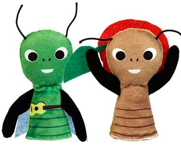 La Cigale et la Fourmi + Les marionnettes de Cigale et de Fourmi
