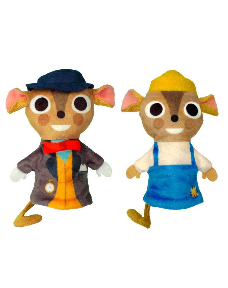 Le Rat de ville et le Rat des champs + Les marionnettes du Rat de Ville et Rat des Champs