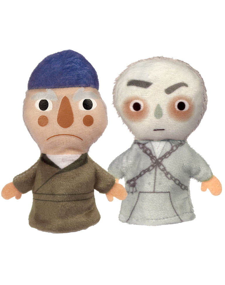 Conte de Noel + Les marionnettes du Ebenezer Scrooge et du fantôme