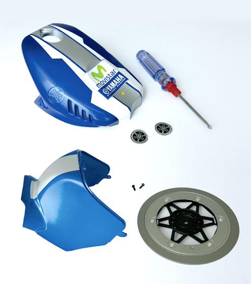 Fascicule 3 + Parties avant et arrière du réservoir, décoration et pièce du disque de frein