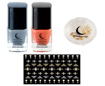 Fascicule 4 + Vernis bleu perle + Vernis rouge brique + Trio nail art + Stickers