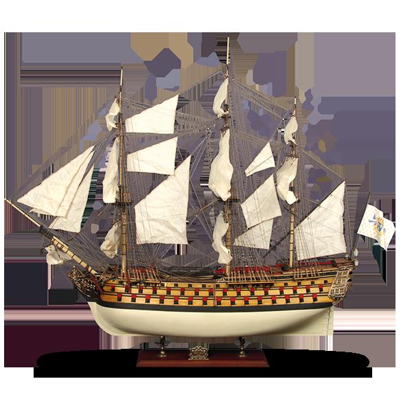 Maquette du bateau La Bretagne