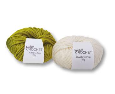 Fascicule 2 + la pelote vert pistache + la pelote blanc vanille