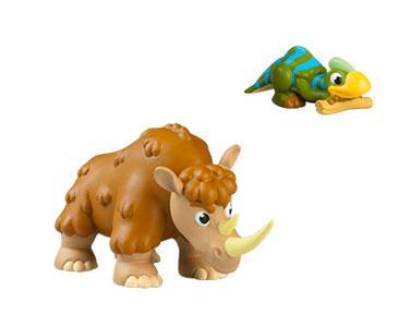 Le livret 29: Le rhinoce?ros laineux + Le papa rhinoce?ros + Le bébé parasaurolophus