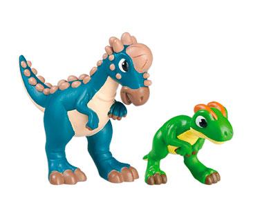 Le livret 28: Le paquicefalosaure + Le papa paquicefalosaure + Le bébé dilophosaure