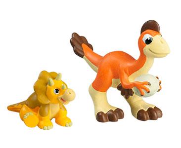 Le livret 25 : L'oviraptor + Le papa oviraptor + Le bébé triceratops