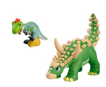 Le livret 30 : Le sauropelta + La maman sauropelta + Le bébé velociraptor