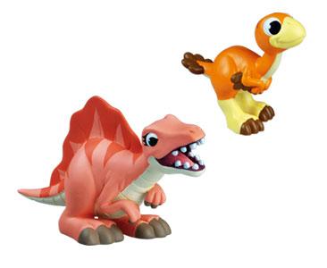 Livret 51 : Le stomatosuchus + La maman spinosaure + le bébé oviraptor