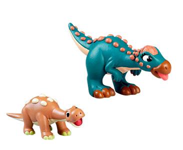 Le livret 43 : Le glyptodon + La maman paquicefalosaure + Le bébé saltasaurus