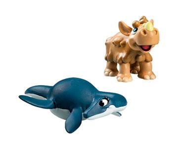 Le livret 42 : Vivre dans les oce?ans + La maman plesiosaurus + Le bébé rhinocéros laineux