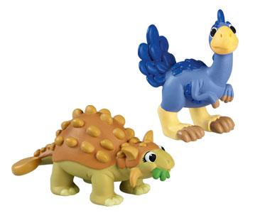 Le livret 58 : Le therizinosaure + Le papa therizinosaure + La maman ankylosaure
