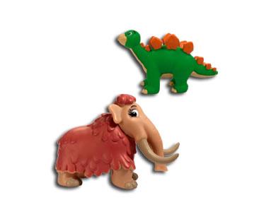 Le livret 4 : Le mammouth + La maman mammouth + Le bébé stegosaurus