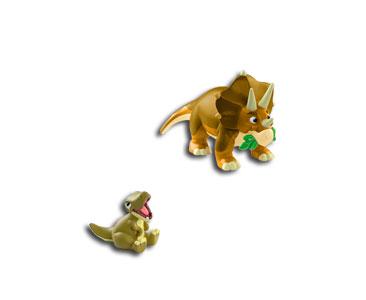 Le livret 1 : Le tricératops + Le papa tricéraptops + Le bébé t-rex