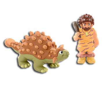 Le livret 6 : L'ankylosaure + Le papa ankylosaure + Le papa humain