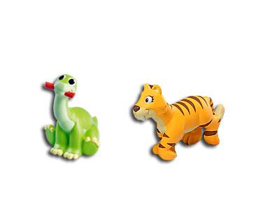 Le livret 10 : Le smilodon + La maman smilodon + Le bébé brontosaure