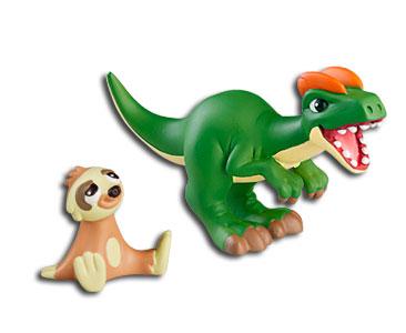 Le livret 16 : Le dilophosaure + Le bébé paresseux + Le papa dilophosaure
