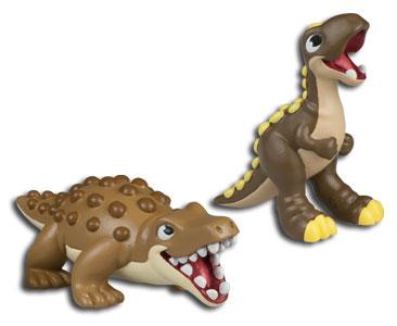 Le livret 80 : Le petit du fleuve + le bébé majungasaurus + le papa mastodontosaure