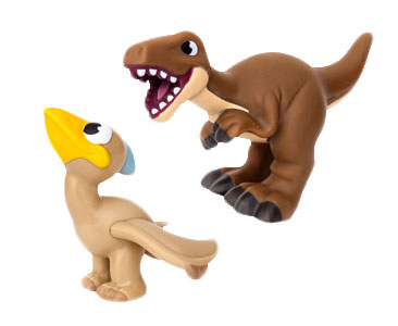 Le livret 61: Le me?garaptor + Le bébé pteranodon + Le papa me?garaptor