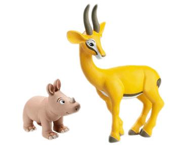 Le Livret 6 : La Gazelle + La maman gazelle + Le bébé rhinocéros