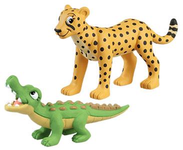 Le livret 52 : La Grue couronnée + Le bébé crocodile + La maman guépard