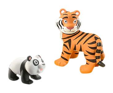 Le Livret 4 : Le Tigre + Le bébé panda + Le papa tigre