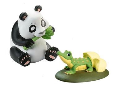 Le Livret : Le Panda+ Le maman panda + le bébé crocodile