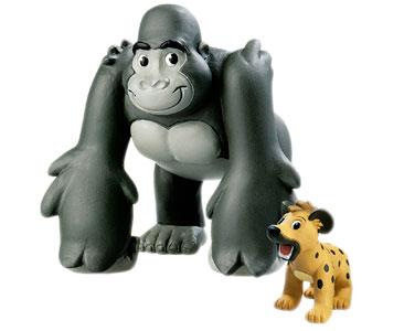 Le livret 18 : Le Gorille + Le papa gorille + Le bébé hyène
